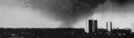 """Photo of the 1981 """"Roseville"""" Tornado Courtesy Bring Me the News"""