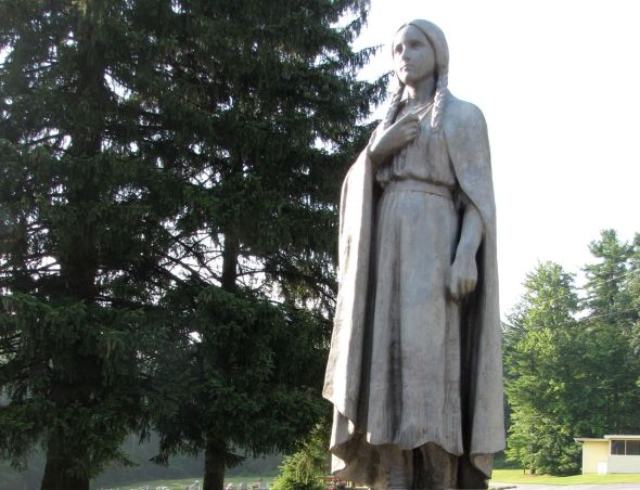 Mary Jemison at Marsh Creek - Statue on the Grounds of St. Ignatius Loyola Catholic Church. Photograph Courtesy Jeffrey Martin