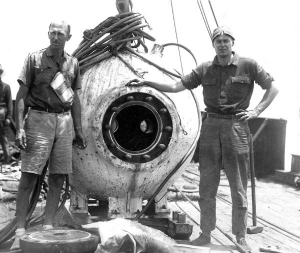 Blogosphere, Bathysphere - well, they're close.   National Oceanic and Atmospheric Administration, 1930s.