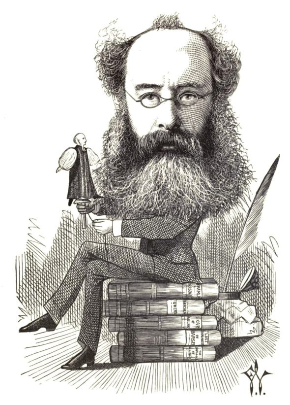 Frederick Waddy, illus., Cartoon portraits and biographical sketches of men of the day, 1872. Courtesy archive.org