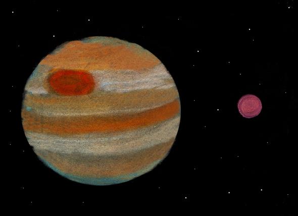 Jupiter and its Great Red Spot by Elisabetta Fratt, 12
