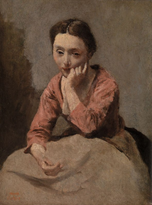 Pensive Young Woman, Corot. Courtesy of The Barnes Foundation