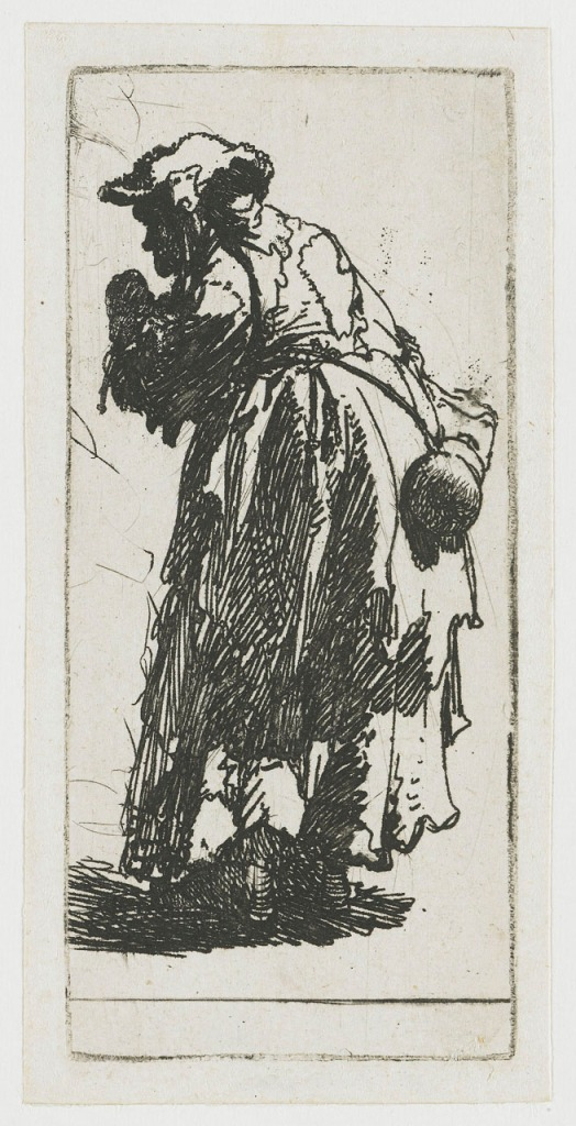 Old Beggar Woman with Gourd - Rembrandt