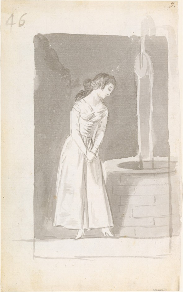 Young Woman at Well - Francisco Goya