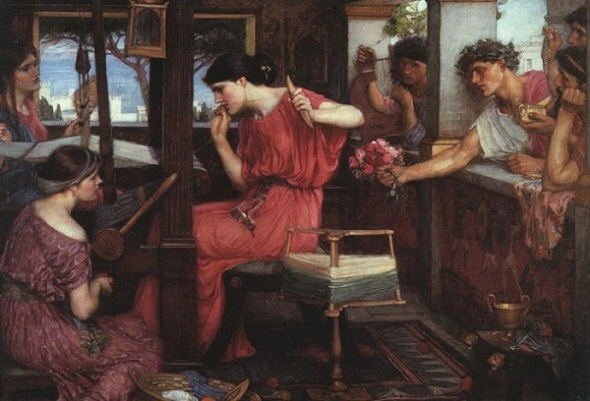 Penelope and the Suitors (1912) John William Waterhouse