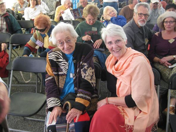 Two of my favorite revival storytellers  Connie Regan-Blake and the late Kathryn Tucker-Windham at the National Storytelling Festival. Photo courtesy Connie Regan-Blake