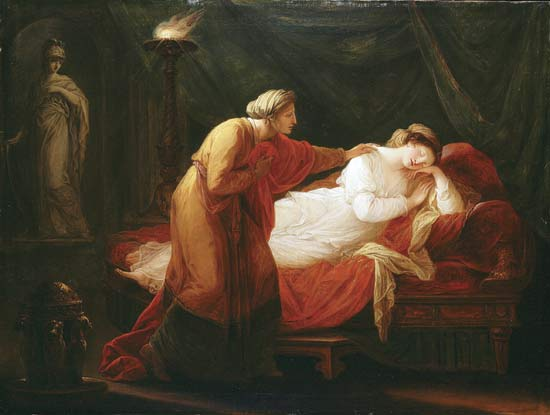 Penelope Awakened by Eurycleia ), oil on canvas Angelica Kauffman, 18th–19th century. Courtesy Encyclopedia Britannica