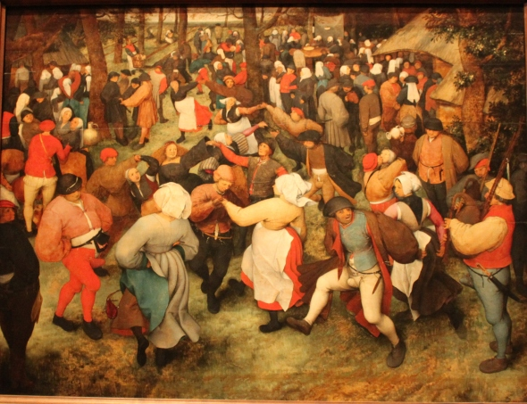 The Wedding Dance by Peter Bruegel the Elder. Not much has changed...