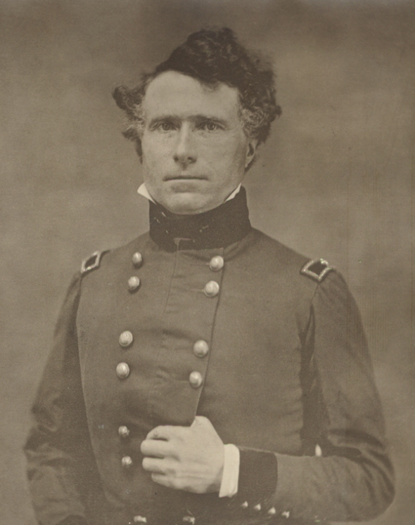 Daguerrotype of Franklin Pierce in uniform - he was a general during the Mexican -American War - by  William H. Kimball, 1852