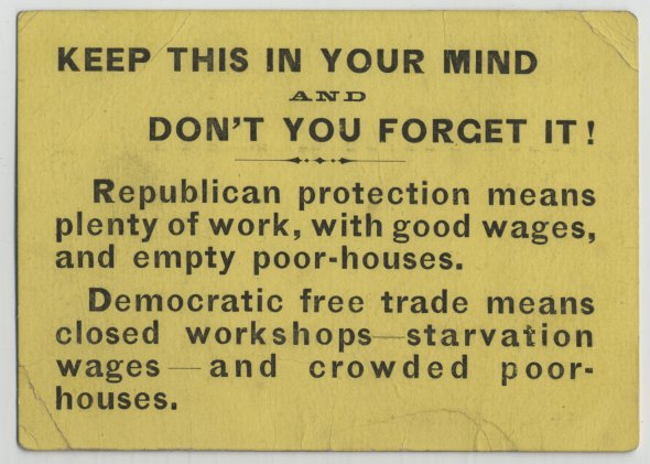 A Republican Party handbill, circa 1880. My dad's not the one one who's gone 360.