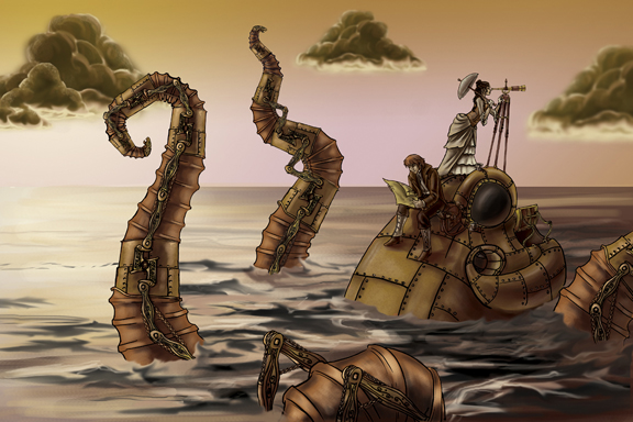 Steampunk Octopus Courtesy Ninjagirl at DeviantArt