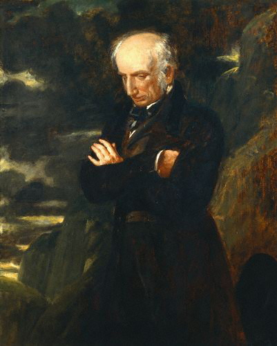 William Wordsworth , 1842. Wandering lonely with clouded brow. Bring this man some daffodils.