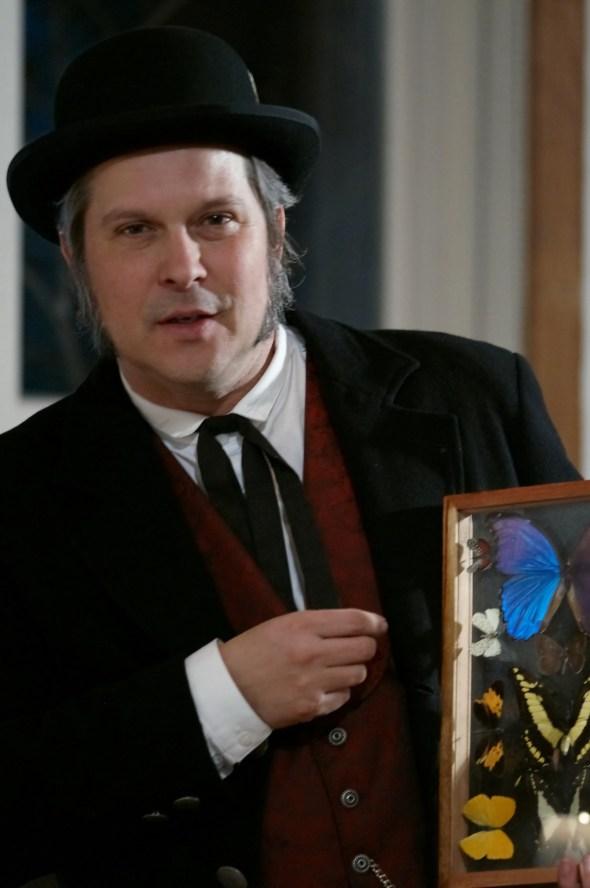 Fox Ellis as Charles Darwin.  Photo by Ivan Phillips