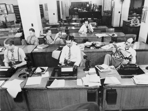 What Writers Did Before Social Media - New York Times Newsroom, 1942