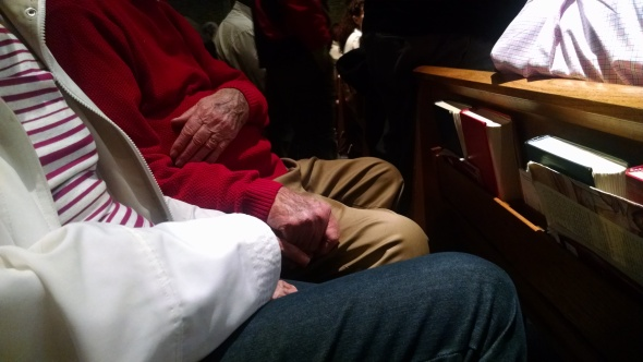 My Parents in Church, Easter Sunday, 2015