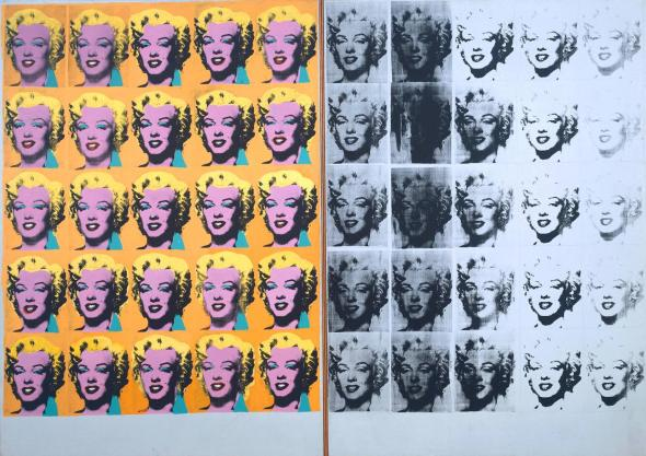 Marilyn Diptych 1962 Andy Warhol Courtesy Tate Museum http://www.tate.org.uk/art/work/T03093