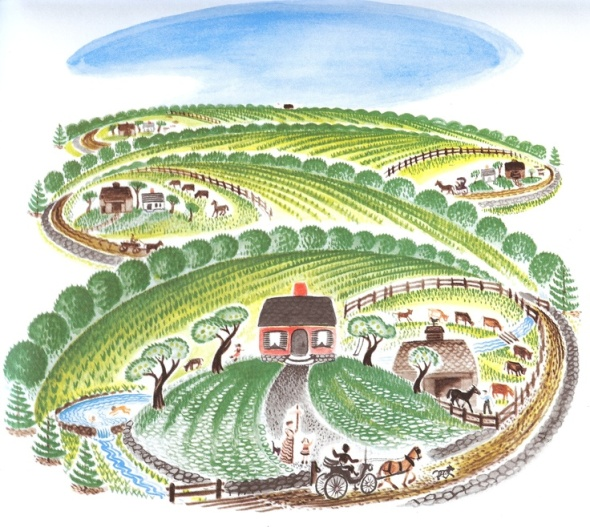 Illustration from one of my favorite picture books as a child, Virginia Lee Burton's The Little House.