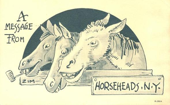 "Postcard by Eugene ""Zim"" Zimmerman (1862-1935), first president of the American Association of Cartoonists and Caricaturists and longtime resident of my home town."