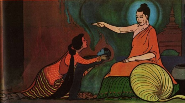 From The Illustrated History Of Buddhism. Artwork by U Ba Kyi.