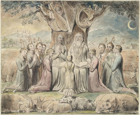 Job and His Family. William Blake, 1826