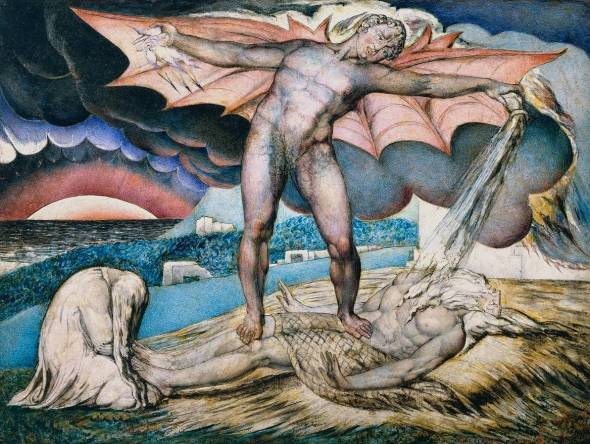 Satan Smiting Job with Sore Boils William Blake, 1826