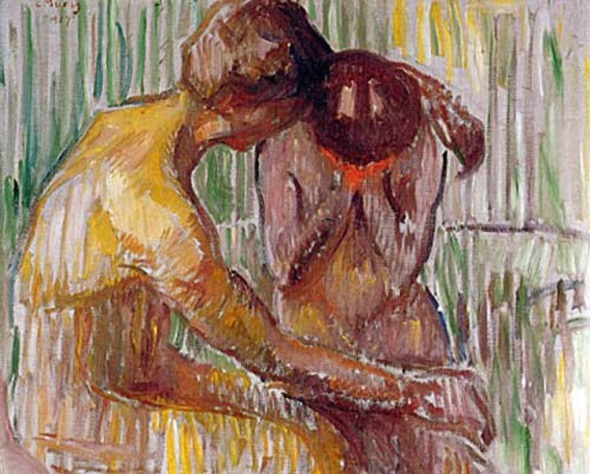 "Edvard Munch, ""Comfort."" Sometimes translated ""Consolation."""