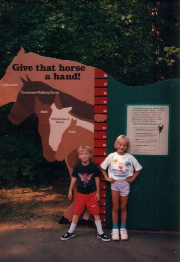 Maggie and Aidan at Grasmere Zoo, Nashville