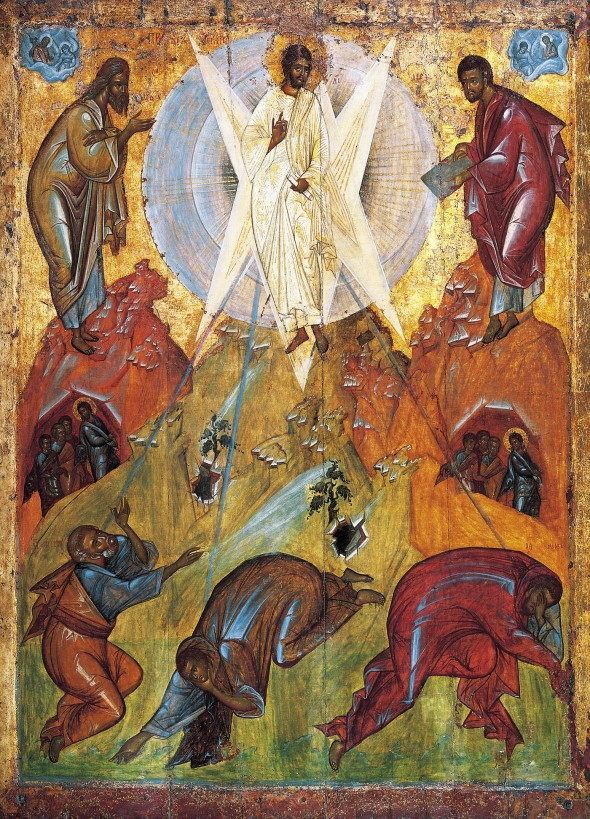 Transfiguration Icon by Theophanes the Greek, 15th century