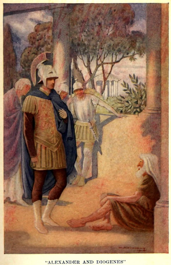 Alexander visits Diogenes at Corinth By W. Matthews [Public domain], via Wikimedia Commons