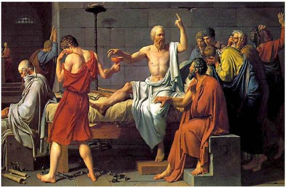 The Death of Socrates by Jacques Louis David, 1787