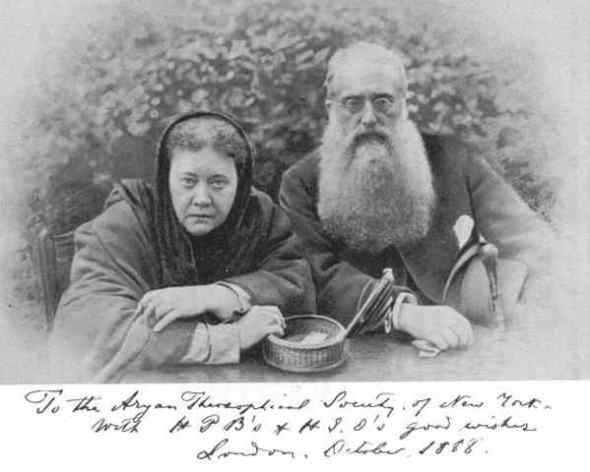 Madame Blavatsky and Colonel Henry Olcott, founders of the Theosophical Movement