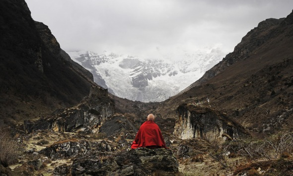 Unattiributed photograph of Matthieu Ricard found on the TED WordPress blog.