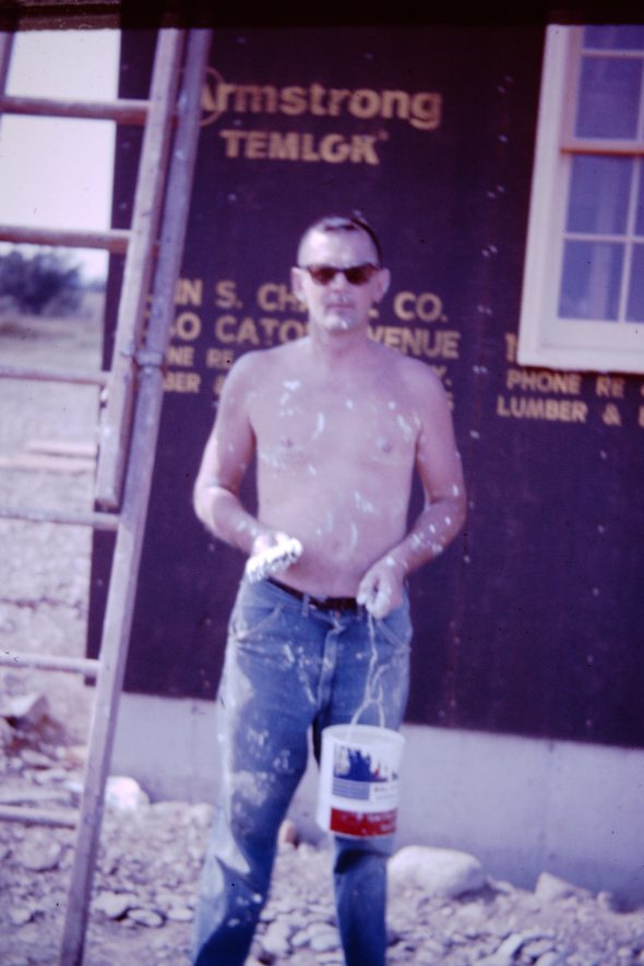 My Father, Painting the House Our Family Built, 1964