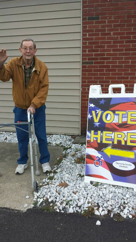 My dad voting November 2016